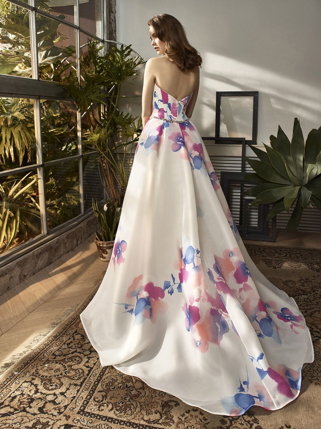 Enzoani-watercolour-floral-wedding-gown-back