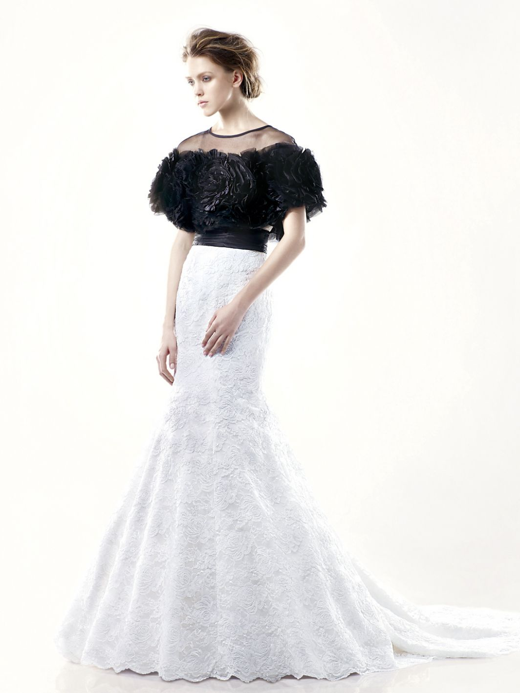 Enzoani-Dillon-black-jacket-wedding-gown