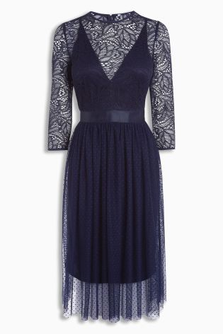 Navy Lace Dress £60