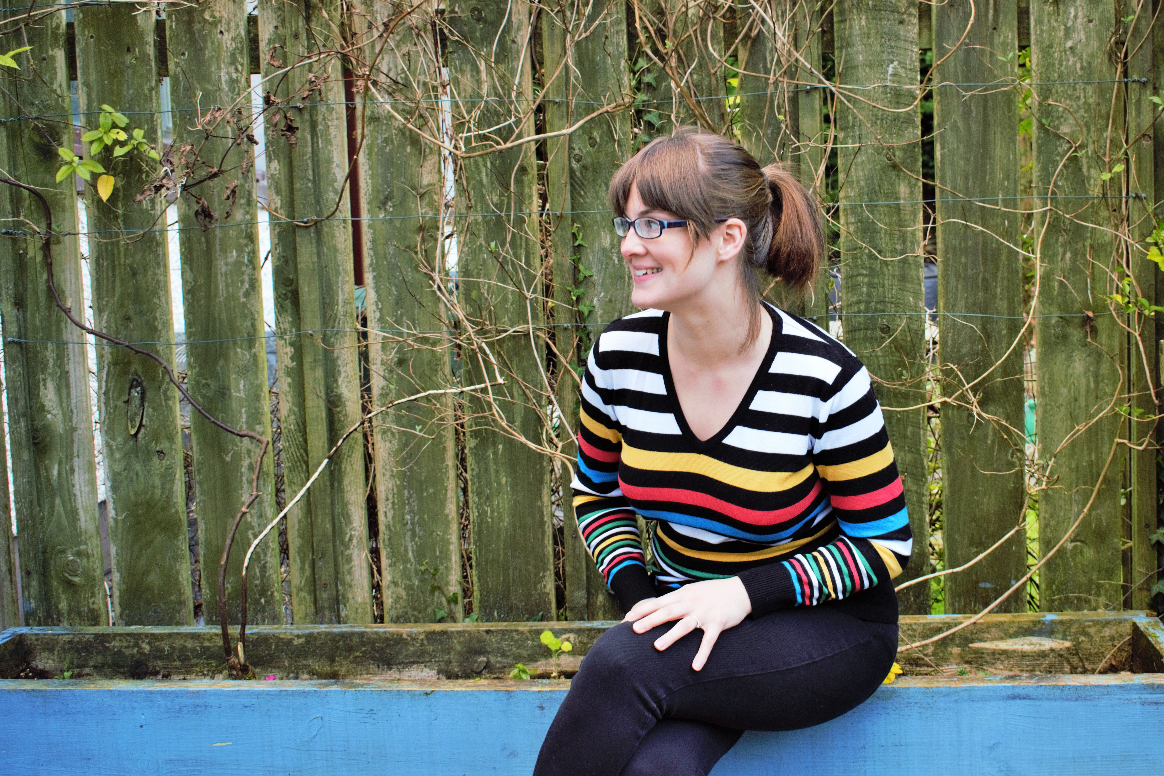 tips for shopping second hand charity shop striped jumper